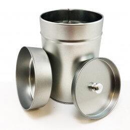 Metal Runde Doppeldeckel Dose für Gewürze, Kräuter, Kaffee oder Tee
