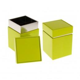 Quadratische Farbig Dose für Gewürze, Kräuter, Kaffee oder Tee