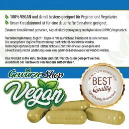 Kreuzkümmel Kumin Kapseln - 100% Vegan - XXL Dose 250 Stk. 540mg - Gewürze Shop