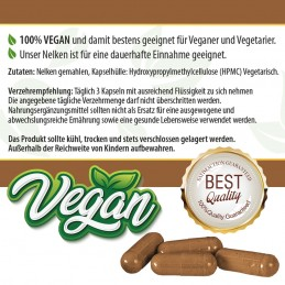 Nelken Kapseln - 100% Vegan - 100 Stk. 480mg