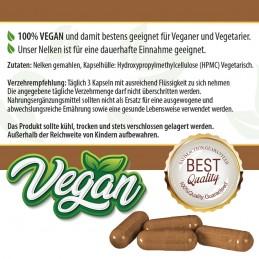 Nelken Kapseln - 100% Vegan - 250 Stk. 480mg