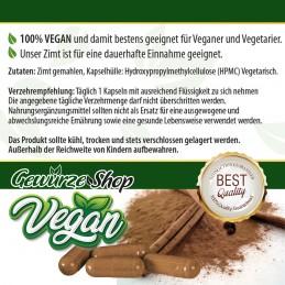 Zimt Kapseln - 100% Vegan - 250 Stk. 460mg