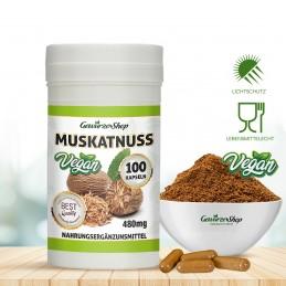 Muskatnuss Kapseln - 100% Vegan - 100 Stk. 480mg