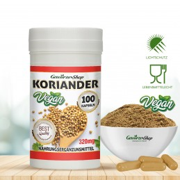 Koriander Kapseln - 100% Vegan - 100 Stk.