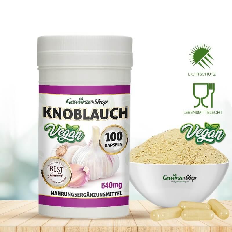 Knoblauch Kapseln - 100% Vegan - 100 Stk.
