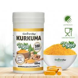 Kurkuma Kapseln - 100% Vegan - 100 Stk.